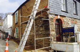 Campfield Road - Lime Render - Complete Builders Truro